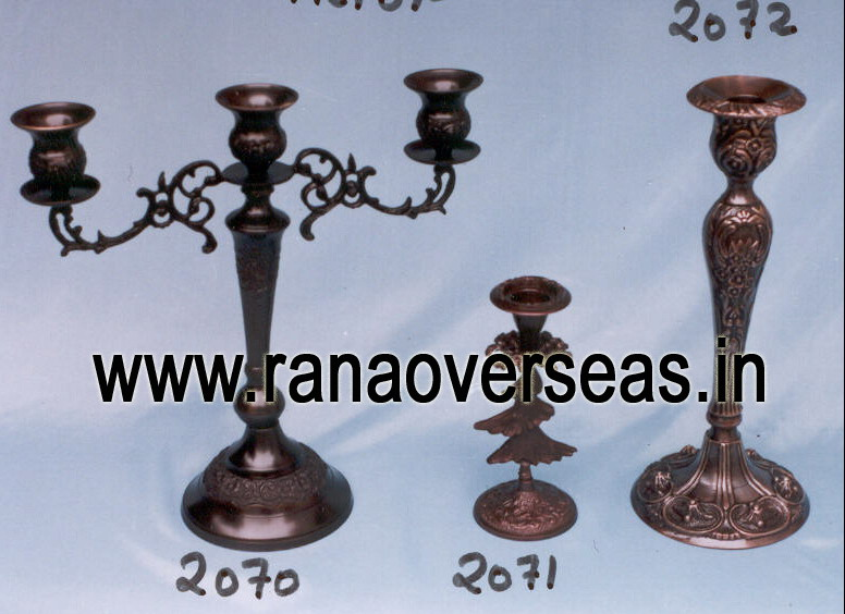 Brass Metal Candle Stands 1 - 2