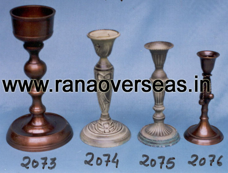 Brass Metal Candle Stands 2073 , 2074 ,2075 , 2076