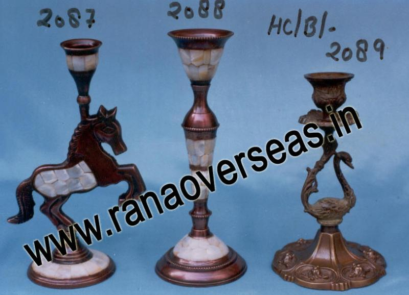 Brass Metal Candle Stands 2087 , 2088 , 2089