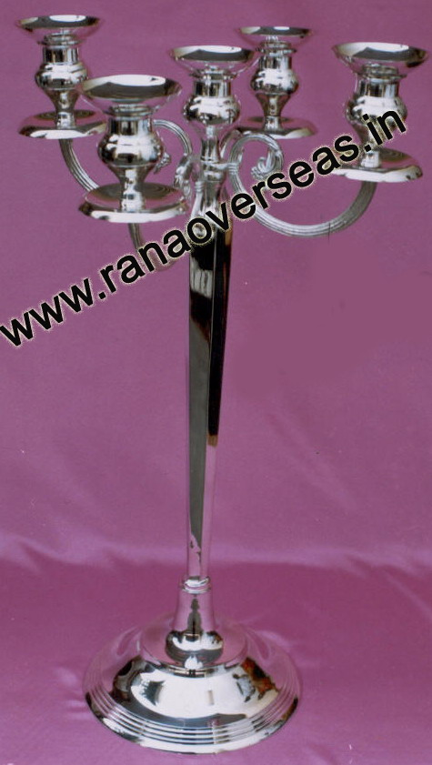 Silver Plated Candle Stands - 2098
