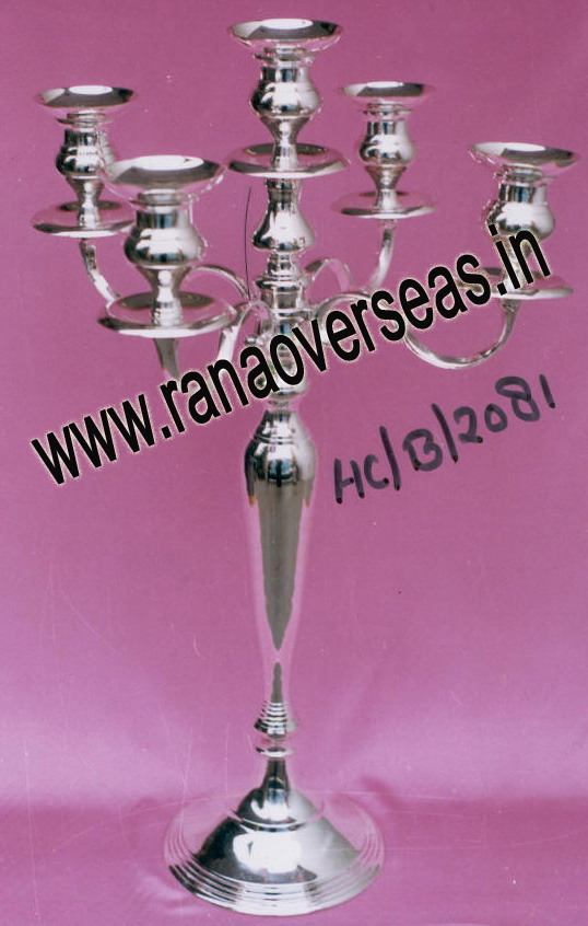 Silver Plated Candle Stands - 3