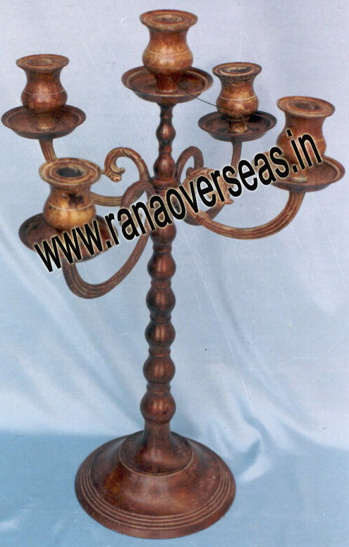 Antique Candle Stand in metal.