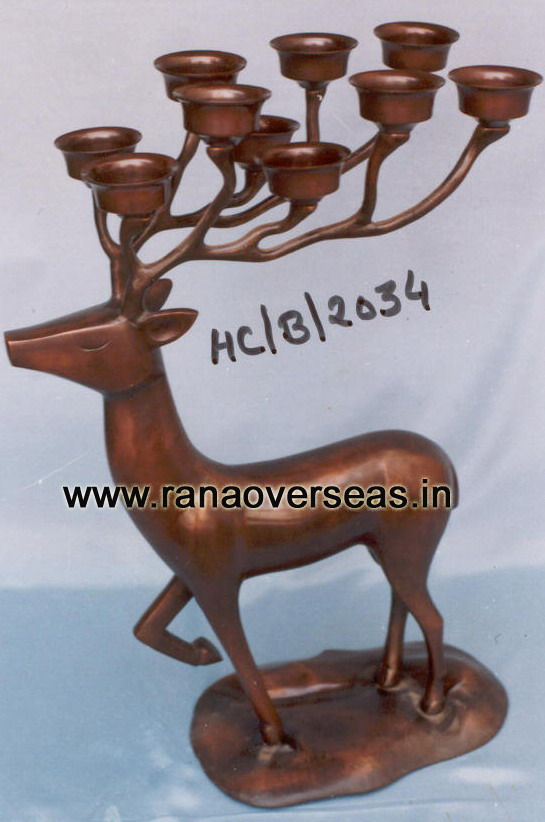 Metal Candle Stand in Deer Style 2034