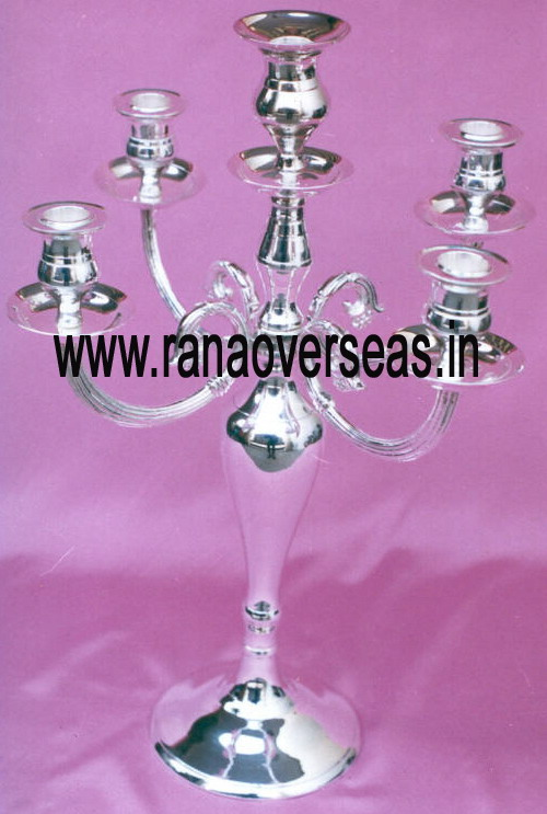 Silver Plated Candle Stands - 2