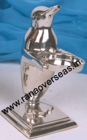 Silver Plated Candle Stands in penguin.