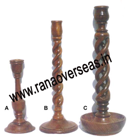 Wooden Candle Stand Unique A,B,C