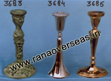 Brass Metal Candle Stands 3683 , 3684 , 3685.