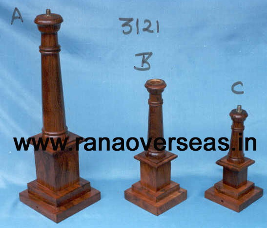Wooden Pillar Candle Stand - 4