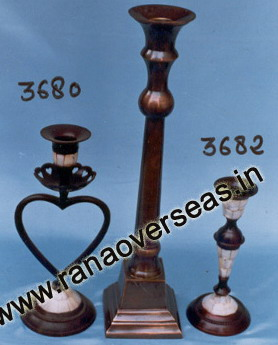 Brass metal Candle Stands 3680, 3681 , 3682.