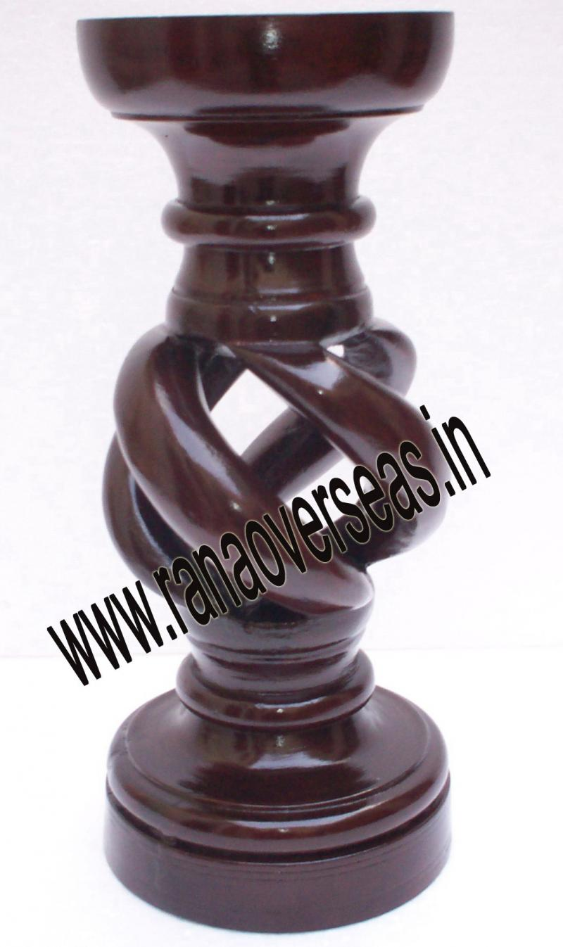 Wooden Under Cut Candle Stands 3