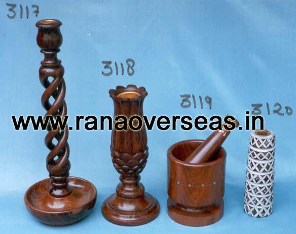 Wooden Candle Stands 3117 , 3118 , 3119 , 3020.