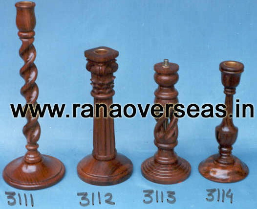 Wooden Candle Stands 3111 , 3112 , 3113 , 3014.