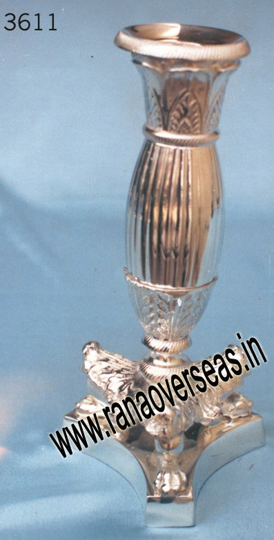 Silver Plated Candle Stands - 3611