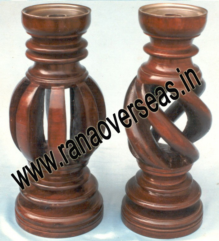 Wooden Under Cut Candle Stands 1 - 2
