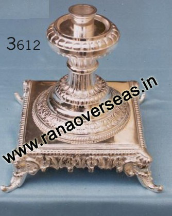 Silver Plated Candle Stands - 3612