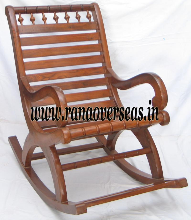 rana overseas inc wooden rocking chair. Black Bedroom Furniture Sets. Home Design Ideas