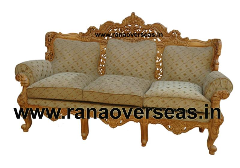 Rana overseas inc wooden sofa set for Oriental sofa designs